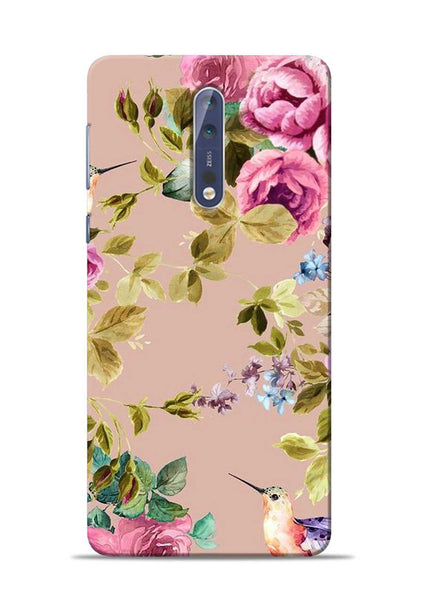 Red Rose Nokia 5 Mobile Back Cover