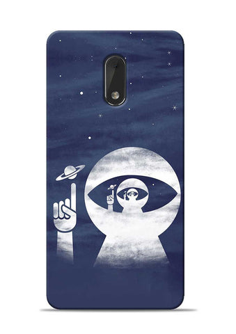 To Moon Nokia 6 Mobile Back Cover
