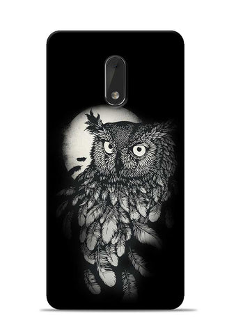 Moon Owl Nokia 6 Mobile Back Cover