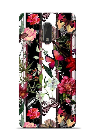 Butterfly Flower Nokia 6 Mobile Back Cover