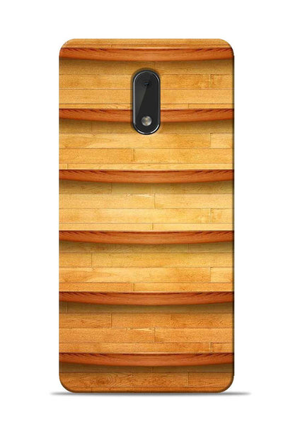 Wooden Texture Nokia 6 Mobile Back Cover