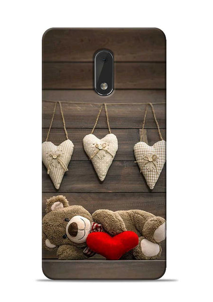 Teddy Love Nokia 6 Mobile Back Cover