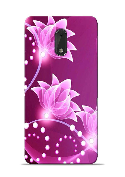 Pink Flower Nokia 6 Mobile Back Cover
