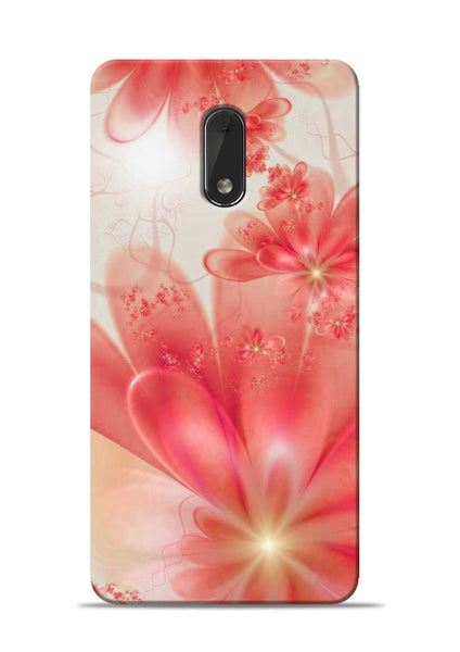 Glowing Flower Nokia 6 Mobile Back Cover