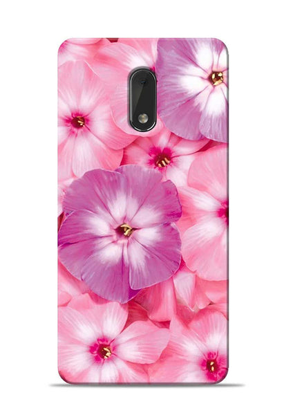 Purple Pink Flower Nokia 6 Mobile Back Cover