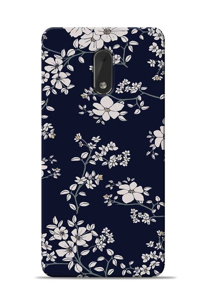 The Grey Flower Nokia 6 Mobile Back Cover
