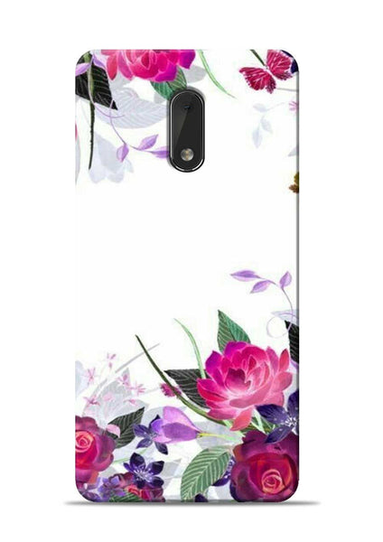 The Great White Flower Nokia 6 Mobile Back Cover