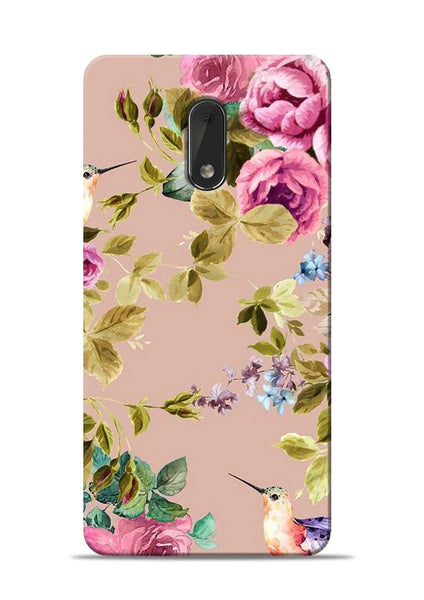 Red Rose Nokia 6 Mobile Back Cover