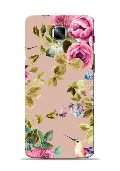 Red Rose OnePlus 3T Mobile Back Cover