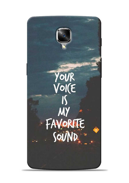 Your Voice OnePlus 3T Mobile Back Cover