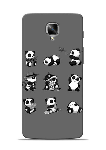 Nine Panda Moods OnePlus 3 Mobile Back Cover