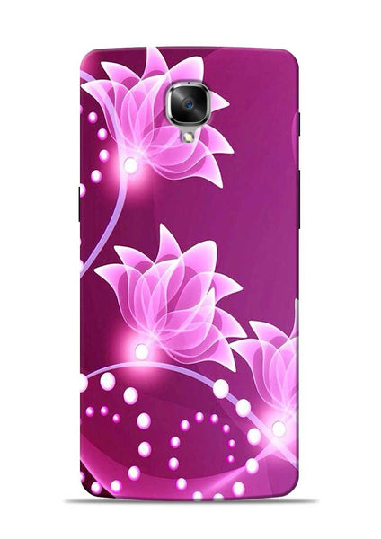 Pink Flower OnePlus 3 Mobile Back Cover