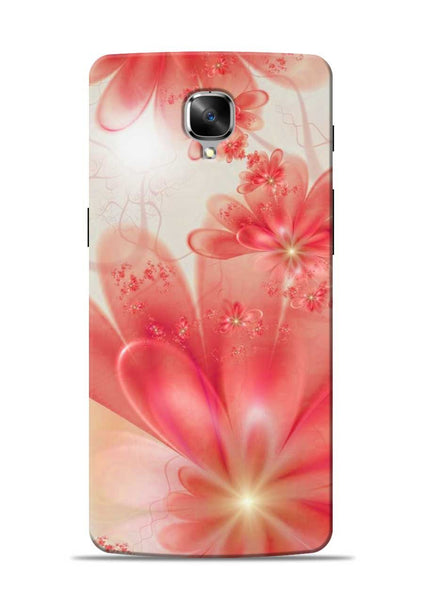 Glowing Flower OnePlus 3 Mobile Back Cover