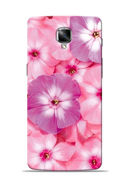 Purple Pink Flower OnePlus 3 Mobile Back Cover