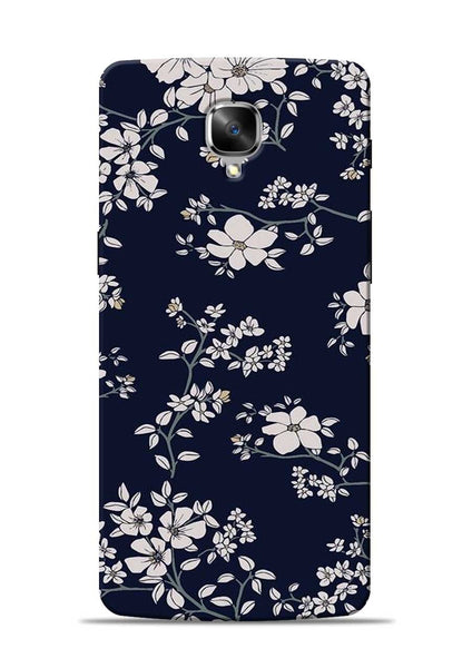 The Grey Flower OnePlus 3 Mobile Back Cover
