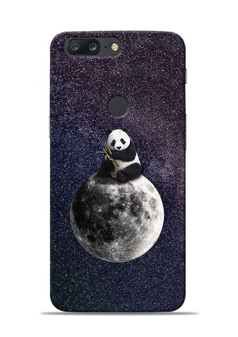 Panda On moon OnePlus 5T Mobile Back Cover