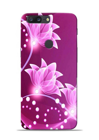 Pink Flower OnePlus 5T Mobile Back Cover