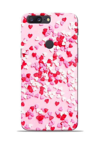 White Red Heart OnePlus 5T Mobile Back Cover