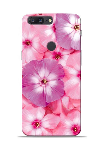Purple Pink Flower OnePlus 5T Mobile Back Cover