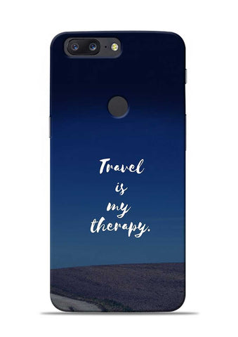 Travel Is My Therapy OnePlus 5T Mobile Back Cover