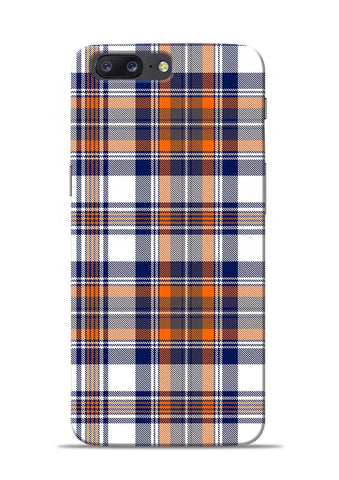 Colorful Checks OnePlus 5 Mobile Back Cover