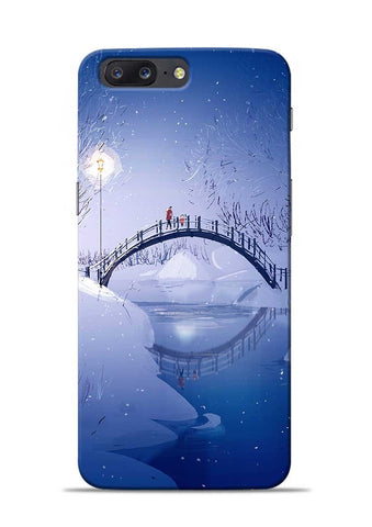 Night Bridge OnePlus 5 Mobile Back Cover
