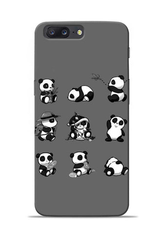 Nine Panda Moods OnePlus 5 Mobile Back Cover