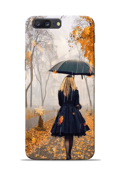 Walk In A Rain OnePlus 5 Mobile Back Cover