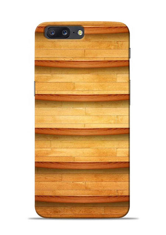 Wooden Texture OnePlus 5 Mobile Back Cover