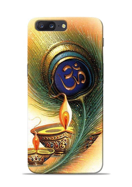 The Glowing Diya OnePlus 5 Mobile Back Cover