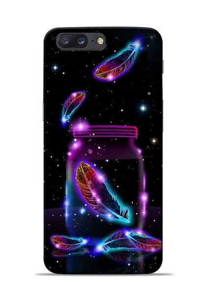 Glowing Bird Fur OnePlus 5 Mobile Back Cover