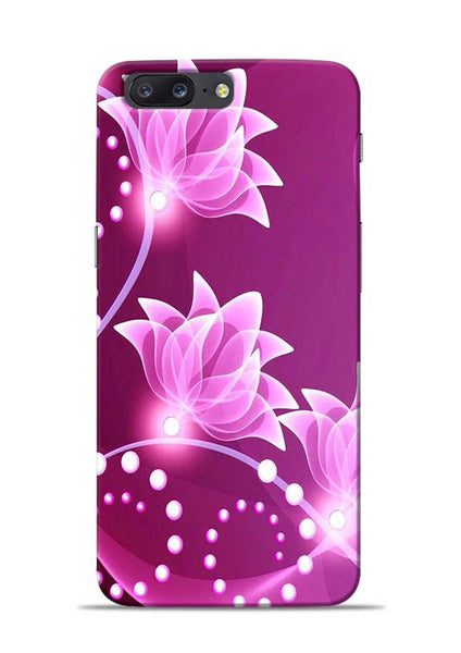 Pink Flower OnePlus 5 Mobile Back Cover