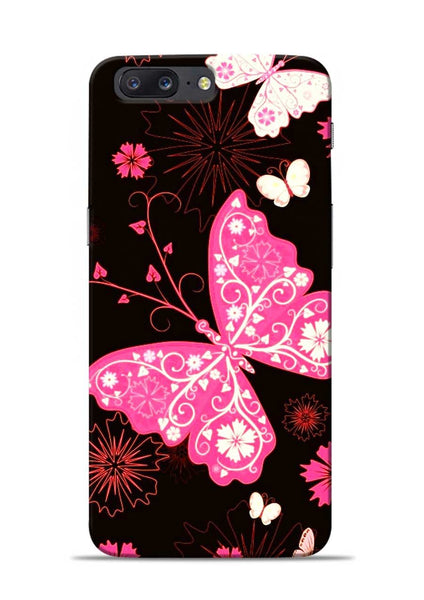 The Butterfly OnePlus 5 Mobile Back Cover