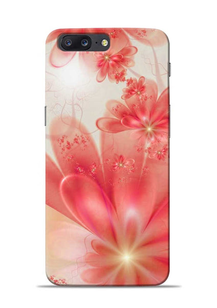 Glowing Flower OnePlus 5 Mobile Back Cover