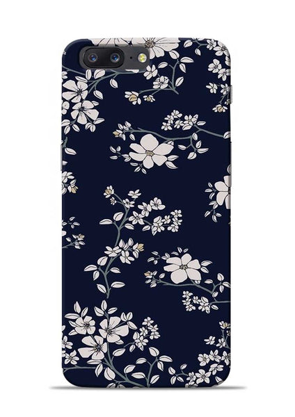 The Grey Flower OnePlus 5 Mobile Back Cover
