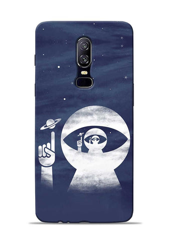 To Moon OnePlus 6 Mobile Back Cover