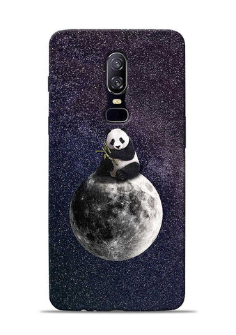 Panda On moon OnePlus 6 Mobile Back Cover