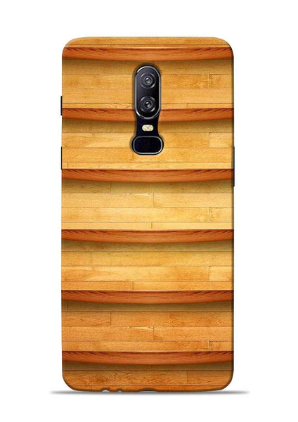 Wooden Texture OnePlus 6 Mobile Back Cover