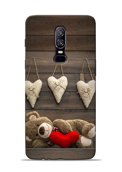 Teddy Love OnePlus 6 Mobile Back Cover