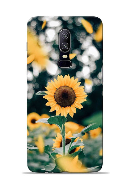 Sun Flower OnePlus 6 Mobile Back Cover