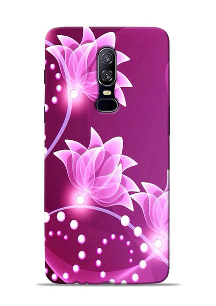 Pink Flower OnePlus 6 Mobile Back Cover