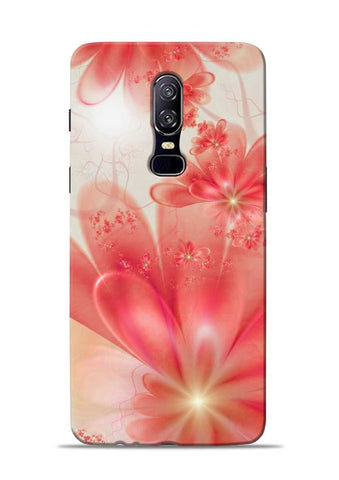 Glowing Flower OnePlus 6 Mobile Back Cover