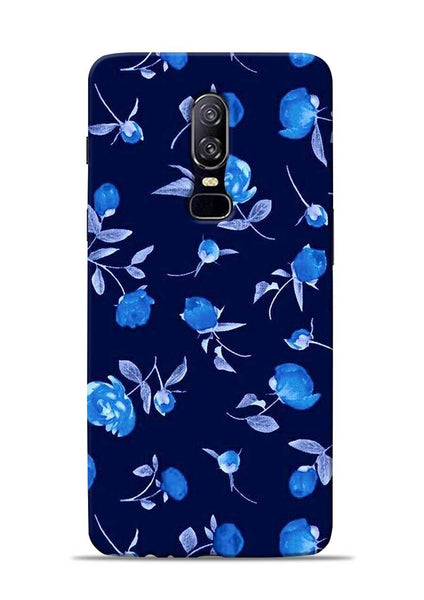 The Blue Flower OnePlus 6 Mobile Back Cover