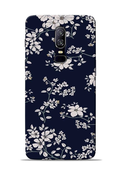 The Grey Flower OnePlus 6 Mobile Back Cover