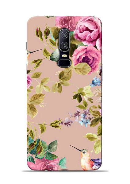 Red Rose OnePlus 6 Mobile Back Cover
