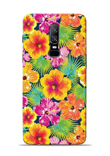 Garden Of Flowers OnePlus 6 Mobile Back Cover
