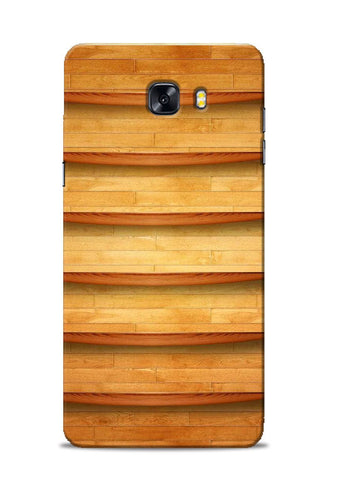 Wooden Texture Samsung Galaxy C9 Pro Mobile Back Cover