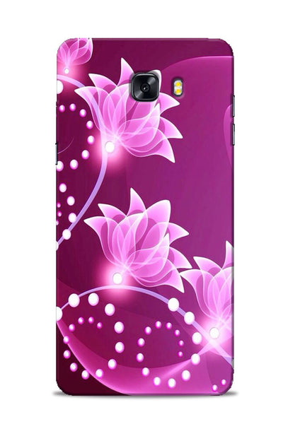 Pink Flower Samsung Galaxy C9 Pro Mobile Back Cover