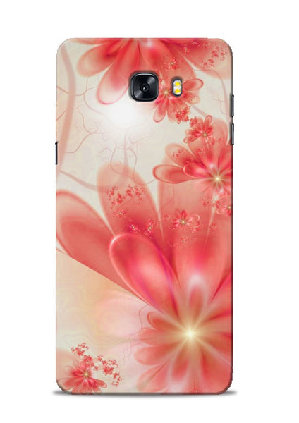 Glowing Flower Samsung Galaxy C9 Pro Mobile Back Cover