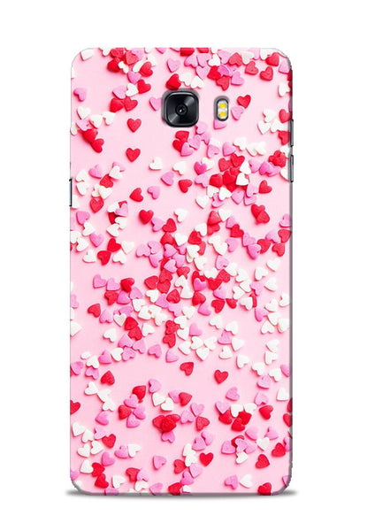 White Red Heart Samsung Galaxy C9 Pro Mobile Back Cover